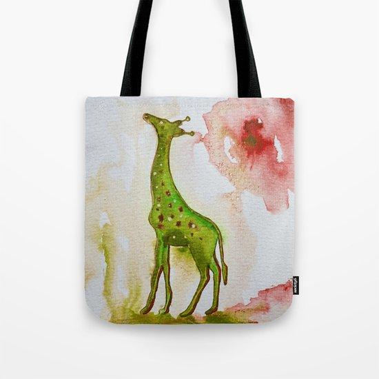 Green giraffe Tote Bag