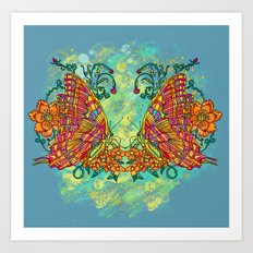 Tie Dyed Butterfly Art Print