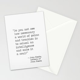 John Keats quote Stationery Cards