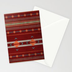 Efinity Pattern Red Stationery Cards