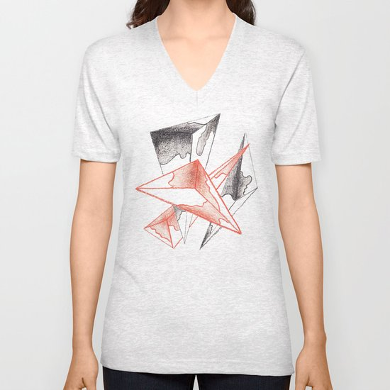 CRAYON LOVE: Monarchs Unisex V-Neck