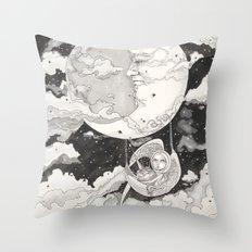 Moon Angel Throw Pillow