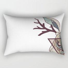 Holding Hadid - Blue Rectangular Pillow
