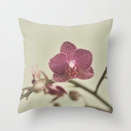 Orchid Arch Throw Pillow