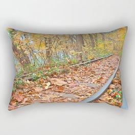 Abandoned Autumn Railroad Rectangular Pillow