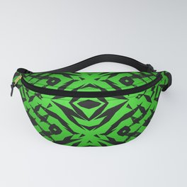 Green tribal shapes pattern Fanny Pack