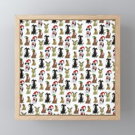 Merry Barkmas & Happy Howlidays Framed Mini Art Print