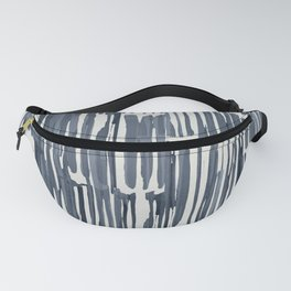 Simply Bamboo Brushstroke Indigo Blue on Lunar Gray Fanny Pack
