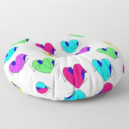 Neon Hearts with Love Rasha Stokes Floor Pillow