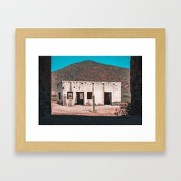 Abandoned building in Baja California Sur Framed Art Print