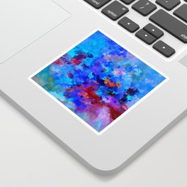 Abstract Seascape Painting Sticker