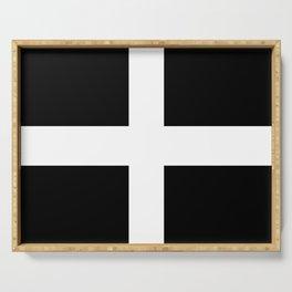 Saint Piran's Flag of Cornwall UK Serving Tray