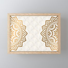 Gold Mandala 13 Framed Mini Art Print
