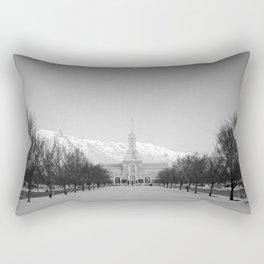 Timpanogos Temple - American Fork, Utah Rectangular Pillow