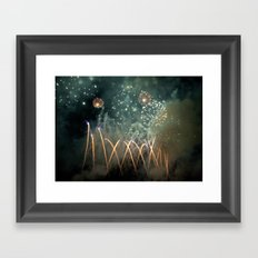 Fireworks Face Framed Art Print