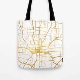 COLUMBUS OHIO CITY STREET MAP ART Tote Bag
