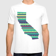 California Modern Navajo 2 Mens Fitted Tee MEDIUM White