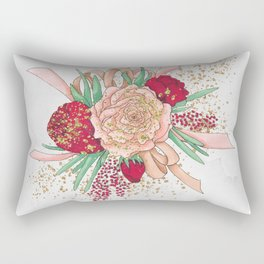 Rose Flower Rectangular Pillow