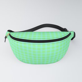 Blue On Green Plaid Fanny Pack