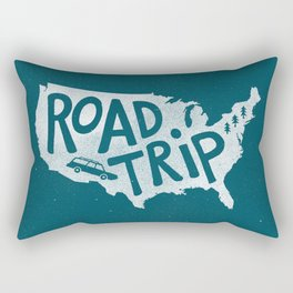 Road Trip USA - reverse Rectangular Pillow