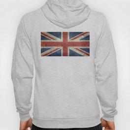 UK Flag, Dark grunge 1:2 scale Hoody