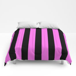 Black and rose Stripes Comforters