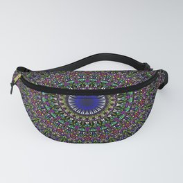 Colorful Sacred Kaleidoscope Mandala Fanny Pack