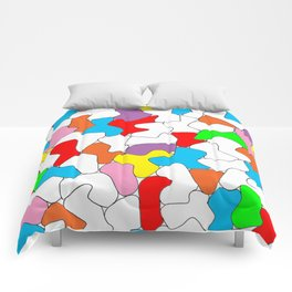 Multi-colored Shapes  Comforters