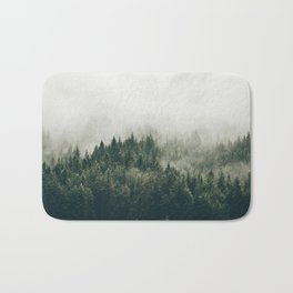 Foggy Mountain Side Bath Mat