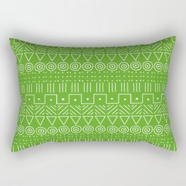 Mudcloth Style 1 in Lime Green Rectangular Pillow