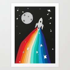 Magic Rocket Art Print
