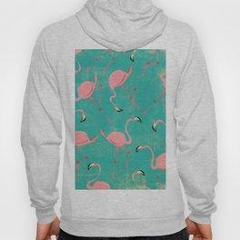 Pink Flamingo  Pattern Hoody