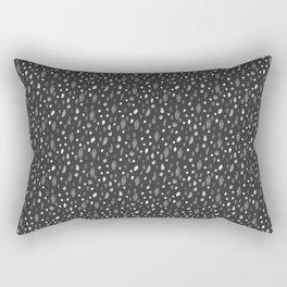 Watercolor Dots, Black Rectangular Pillow