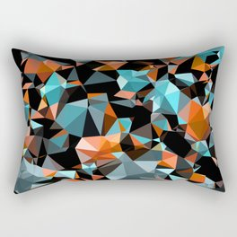 Copper Vein Abstract Low Poly Geometric Triangles Rectangular Pillow