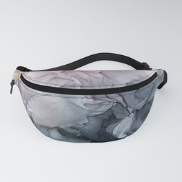 Blush and Paynes Gray Flowing Abstract Reflect Fanny Pack