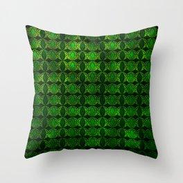 Emerald Arches Throw Pillow