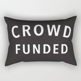 Crowd Funded Rectangular Pillow