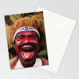 Eating a Betel Nut in Papua New Guinea Stationery Cards