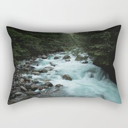Pacific Northwest River II - Nature Photography Rectangular Pillow