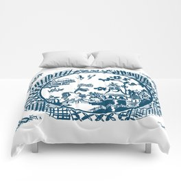 Classic Blue Willow Comforters