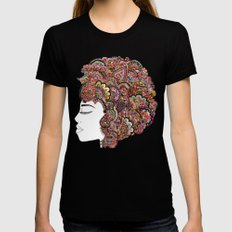 Her Hair - Les Fleur Edition Black SMALL Womens Fitted Tee