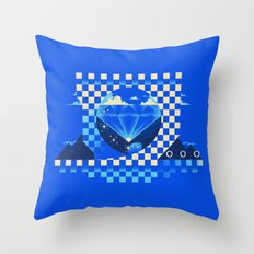 Chaos Emerald Throw Pillow