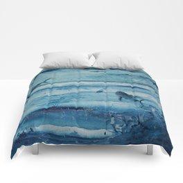 Sharks in deep blue Comforters