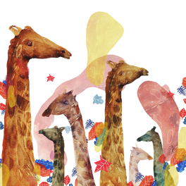 Window Curtain - party giraffe - franciscomffonseca
