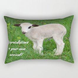 Congratulations On Your New Arrival Rectangular Pillow
