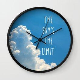 Sky's the limit - cloudscape Wall Clock