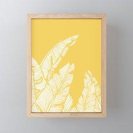 Banana Leaves on Yellow #society6 #decor #buyart Framed Mini Art Print