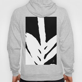 Green Fern White and Black Hoody