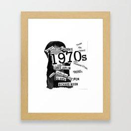 Misanthrope 70's Shirt Framed Art Print