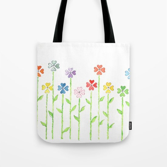 Inch by Inch, Row by Row Tote Bag